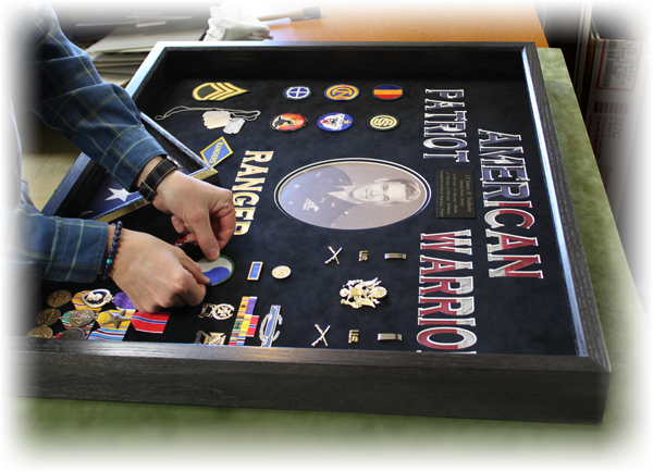 UltraThin custom shadowbox for military